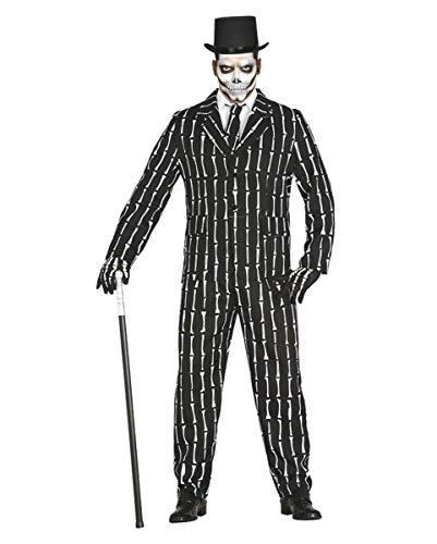 (Horror-Shop Halloween Kostüm Anzug mit Knochen Motiv L)