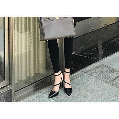 Talloni delle donne cinturino alla caviglia Primavera pelle verniciata con fibbia tacco a spillo casual US5 / EU35 / UK3 / CN34
