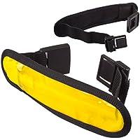 Lilware Dare to Be Visible Armband Regolabile Riflettente Bracciale / Wristband / Braccialetto con Flessibile LED Lampeggiante. Colore Giallo