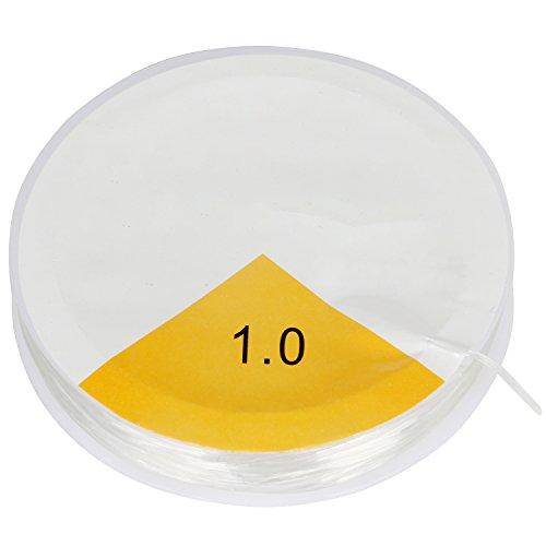 TRIXES 8 m Bobina di Filo Trasparente da 1 mm – Elastica – Filo Elastico per Bracciali – Filo Elasticizzato per Perline, Gioielli, Lavori Artigianali comprare on line