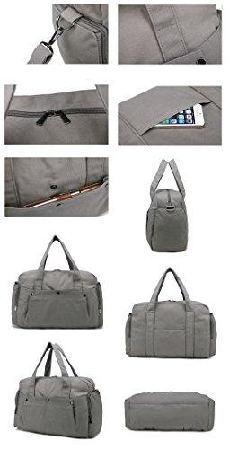 Outdoor peak Damen Canvas hochwertig Tagetasche Schultertasche Handtasche Daypacks Messenger Bag KuriertaschenFreizeittasche Reisetasche Schultasche Grau