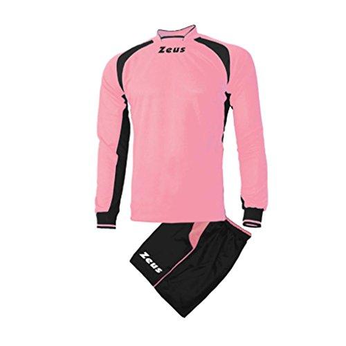 Zeus - Equipement football maillot + Short foot Pippo - Couleur : Rose Noir - Taille : S