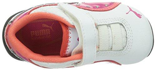 Puma Drift Cat 6 Diamonds V Mädchen Sneakers Weiß (white-fuchsia purple 01)