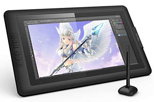 Xp-pen artist 15.6 tavoletta grafica con monitor schemo ips hd 1980 x 1080 penna senza batteria pressione 8192 levilli 6 tasti di scelta rapida