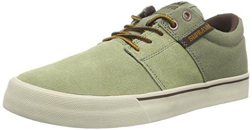 Supra - Stacks Vulc Ii, Sneakers da uomo, verde (moss - bone   mos), 42