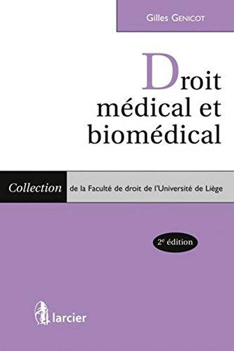 Droit médical et biomédical par From Larcier