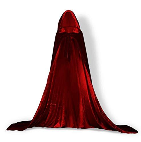 ShineGown Mittelalterliche Kapuze Kap Erwachsene Unisex Umhang Halloween Cosplay Kostüm Kleid Vintage Damen Männer SAMT Gothic Wicca Robe Lange Hochzeit Braut - Assistent Kostüm Männer