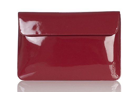 """Knomo lusso universale del computer portatile, tablet, notebook Manica, Portafoglio, busta, sacchetto della copertura della Second Skin (11"""", Rosso)"""