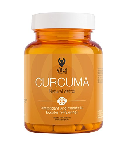 Curcuma-Turmeric-Root-Natural-Detox-and-Antioxidant-Superfood-Pills-Bio-Organic-Tablets-Curcumin-and-Piperine-balck-pepper-60-Veggie-Capsules