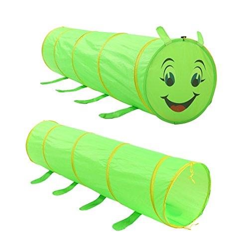 FANCYKIKI Kinder Zelt Caterpillar Tunnel Baby Cartoon Krabbeln Spiel Spielzeug Haus Ocean Wave Ball Pool Zelte Kind Kinder Jungen Mädchen Baby für Indoor & Outdoor Spielzeug Faltbare Spielhäuser Zelte