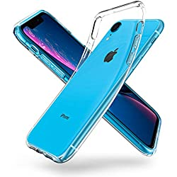 """Funda iPhone XR, Spigen [Liquid Crystal] Protección delgada de Gel silicona y claridad Premium de TPU [Compatible con Carga Inalámbrica] para iPhone XR 6.1"""" (2018) - [Trasparente] 064CS24866"""