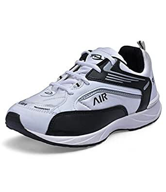 LANCER Men's JJ-AIR Black & White Mesh Synthetic Sports shoe Size