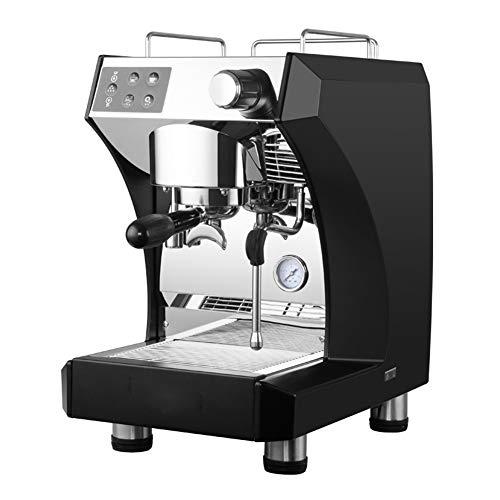 Halbautomatische Espressomaschine mit italienischer Kaffeemaschine, Dampfart Milchblase, Latte Art, Commerical und Haushalt, schwarz - Schwarze Halbautomatische Espressomaschine
