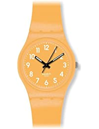 Swatch GJ132 - Reloj analógico de cuarzo unisex, correa de silicona color amarillo