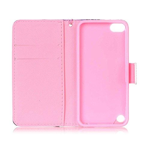 Owbb hibou PU cuir Housse de protection coque pour Apple iPod Touch (5ème / 6ème Génération) étui cover case Color 02