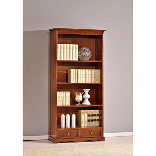 Estense-Bücherregal aus Holz Farbe Walnuss dunkel-L 88P38H 188-591F - Dunkle Walnuss Bücherregal