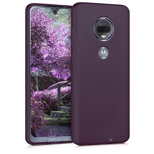 kwmobile Motorola Moto G7 / Moto G7 Plus Hülle - Handyhülle für Motorola Moto G7 / Moto G7 Plus - Handy Case in Metallic Brombeere