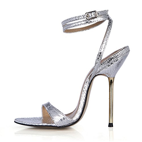 Zeigen und Veranstaltungsräume Nachtleben aus Eisen mit feinen mit der high-heel Schuhe Frauen Sandalen, kleine Silberne Schlange