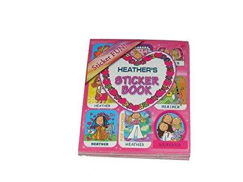 Aufkleber nach der Name personalisiert Heather 6verschiedene Stile 9Blatt 9Aufkleber pro Blatt (kann nicht auf jede andere Namen personalisiert werden)