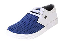 Quarks Mens Blue Synthetic Leather Outdoor Casual Shoes