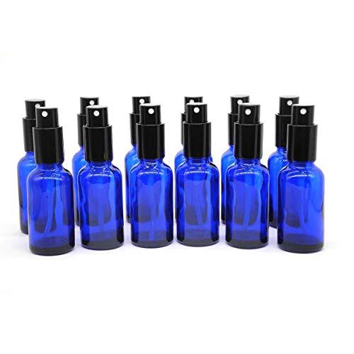 One Trillion Blau Leer Sprühflasche Glas 30ml mit [zerstäuber], Sprühflasche Klein fürÄtherisches Öl,Aromatherapie-Gemische,Parfüm,Massage,Chemische Flüssigkeit,Apotheker- 12Pcs