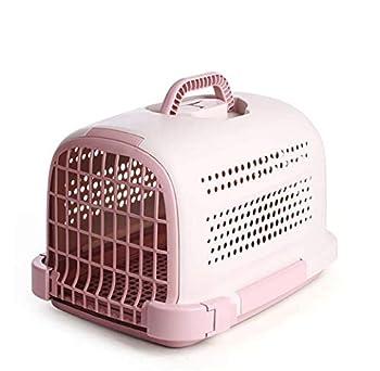 GLMAMK Boîte à air, Transporteur Portable pour Animaux de Compagnie, pour Petit Chien et Chat (Couleur : Rose)