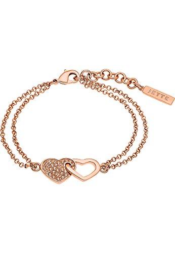 JETTE Magic Passion Damen-Armband Metall 29 Kristall One Size, rosé