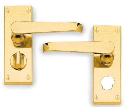 Hoppe CBV31WC - Juego de manillas con placa para puerta de baños, dis