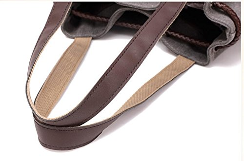 Transer Canvas Handbags & Single Shoulder Bags Women Drawstring Bag Girls Hand Bags, Borsa a spalla donna Grey 32cm(L)*32(H)*7cm(W) Grey