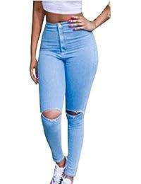 Vaqueros Pitillo Push Up Skinny Pantalon Elasticos Pantalones Vaqueros de Mujer