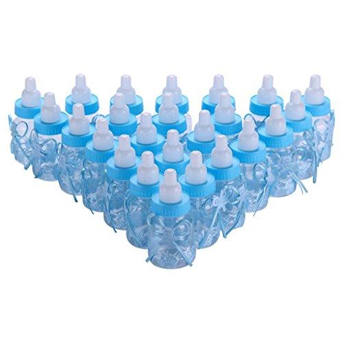 AllRight 24tlg Schnuller Milchflasche Babyflasche Taufe Babyshower Gastgeschenk Blau