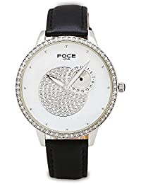 FOCE Analog Women's Premium White Watch with Crystal Studded Dial & Case - F484LSL-WHITE