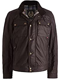 Belstaff Hombres Waxed Racemaster Blouson Jacket Caoba