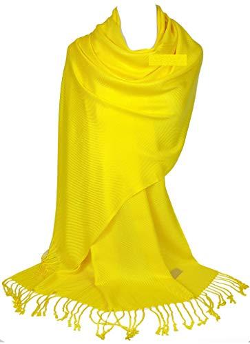 Pashmina amarilla estilo bufanda de abrigo para invierno