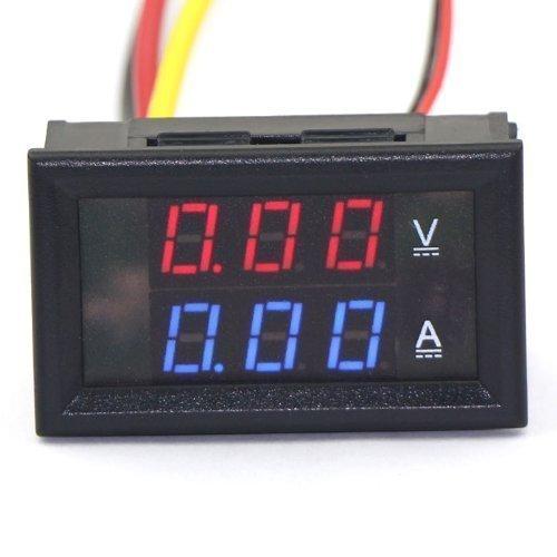 Aihasd Rot+Blau LED Digital Voltmeter 0-300V 300A Amperemeter Volt Amp Panel Meter Amperemeter Shunt