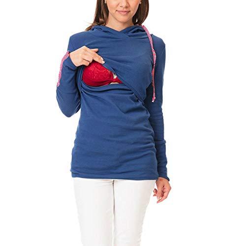 JiaMeng Damen Pflege mit Langen Ärmeln Warm Solid Tops Stillen Hoodie Sweatshirts mit Kapuze stillen Kapuzenbeutel Hüfte Pullover Mantel