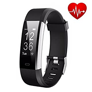 Fitness Tracker AndThere Heart Rate Monitor Activity Tracker Touch Screen Smart Bracelet Pedometer Wristband Sports Watch With Calorie Counter Sleep Monitor Step Tracker for Android and IOS