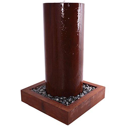 Fontaine cylindrique 160 cm Grand pour l'extérieur en fibre de verre haute qualité plastique (GFK)