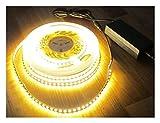 SET HIGH POWER LED Streifen Stripe Strip 10mt warmweiß weiß 1200LED inkl. Netzteil (Pro-Serie) TÜV/GS geprüft 24V, 5320Lumen von AS-S