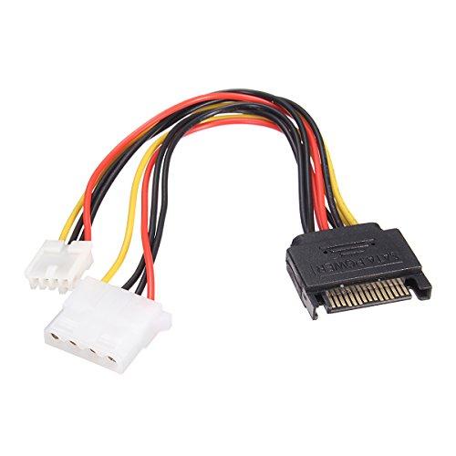5 Pin SATA Stecker zu IDE große 4 Pin + kleine 4 Pin (Stecker Und Steckdose Kostüme)