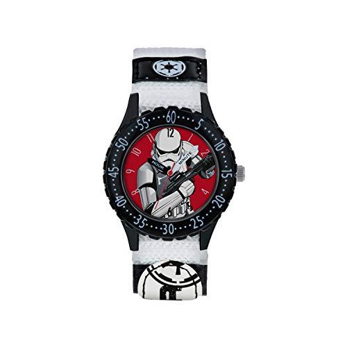 Star Wars Jungen Analog Quarz Uhr mit Stoff Armband STM5002 (Watch Wars Star)