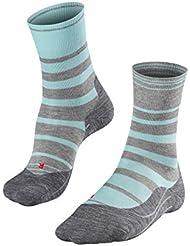 FALKE Ru4 Stripe - Calcetines de Running para Mujer, Primavera/Verano, Calcetines, Mujer, Color Turmalit (6802), tamaño 37-38
