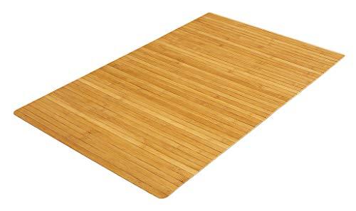 PANA® Bambus Badematte I Duschvorleger aus Bambus I Badezimmer I rutschfest I Farbe: Natur I 50x80cm