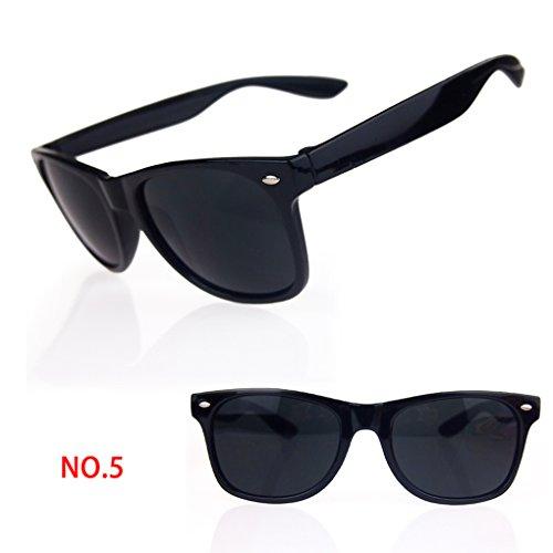 QHGstore Uv400 Brille Sonnenbrille Shades Skibrillen SonnenbrillenSchwarz
