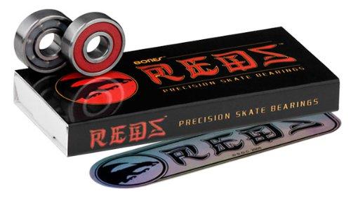 Bones 1BEBOR Reds - Juego de rodamientos para skateboard