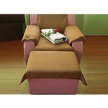 Toalla de pie baño sofá,Fibra extrafina baños sauna masaje hojas de salón de belleza de pie sofá toalla-A 60x35cm(24x14inch)*2