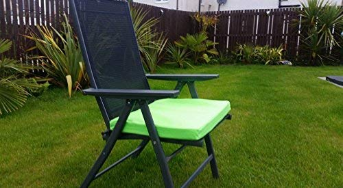 HomeZone® 50 cm x 45 cm résistant à l'eau Fauteuil de luxe et meubles de terrasse rembourré Coussin meubles de jardin Pad carré intérieur/extérieur (2, Citron vert)