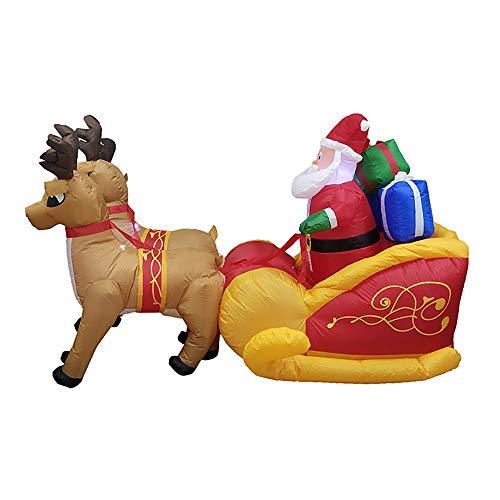 (QNMM 2.1M Langes Weihnachtsaufblasbare Santa Claus-Aufblasbare Weihnachtsdekoration Für Rasen-Innen- Oder Feiertags-Innendekoration)