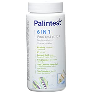 41YCpt2wZ8L. SS300  - Test Strips for the Analysis of the pool water–6in 1–Jar of 50Strips.