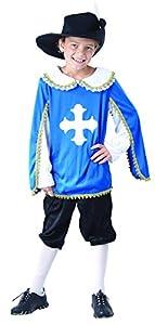 Reír Y Confeti - Ficmou030 - Disfraces para Niños - Disfraz Mosquetero Little Blue - Boy - Talla L